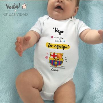 Body bebe personalizado barcelona futbol barsa culé