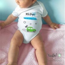 Body bebe personalizado coche verde