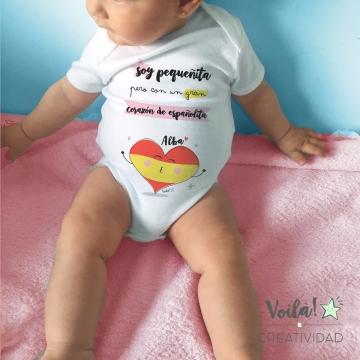 Body bebe personalizado bandera españa corazon