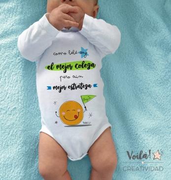 Body bebe personalizado mejor estratega naranja