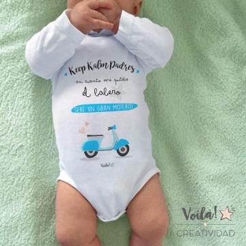 Body bebe personalizado moto