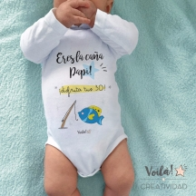 Body bebe personalizado papa caña