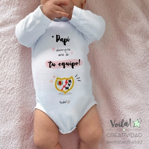 Body bebe personalizado rayo vallecano madrid