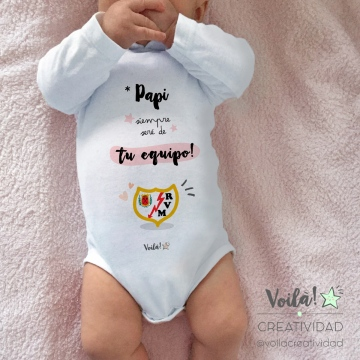 Body bebe personalizado rayo vallecano madrid