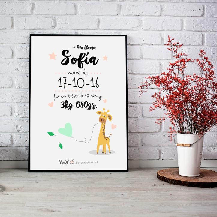 llamina infantil jirafa voila creatividad