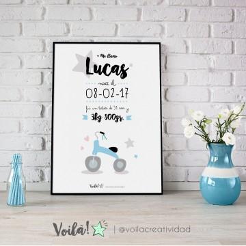 llamina nacimiento LUCAS triciclo voila creatividad