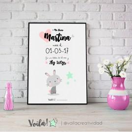 llamina nacimiento MARTINA gatito risa voila creatividad