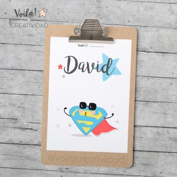 Lámina infantil superman David