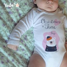 Body bebe navidad christmas time oso polar