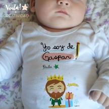 Body bebe Navidad reyes magos Gaspar regalo