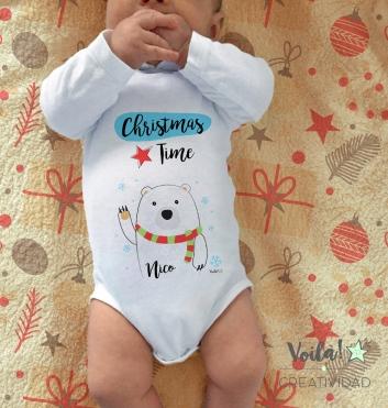 Body bebe oso polar navidad