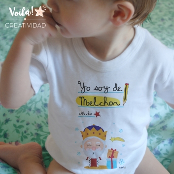 Body camiseta Navidad reyes magos Melchor regalo