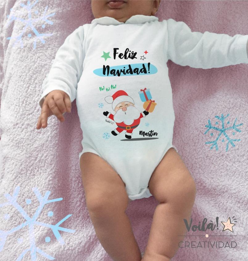 Body Feliz Navidad Papa Noel Santa Regalos