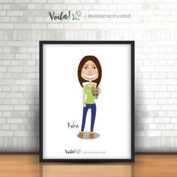 cuadro caricatura personalizada chica voila creatividad-01