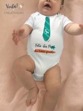 Body bebe feliz dia padre corbata regalo verde mint