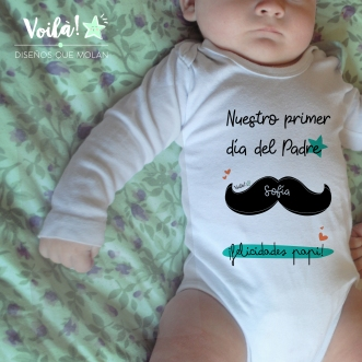 Body bebe personalizado primer dia del padre
