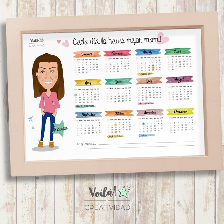 Calendario dia madre personalizado avatar