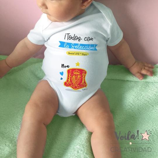 body bebe seleccion espana mundial escudo
