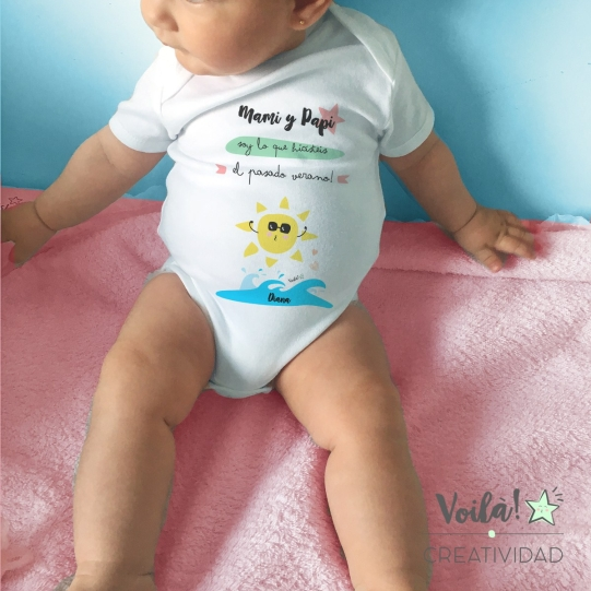 verano body bebe divertido