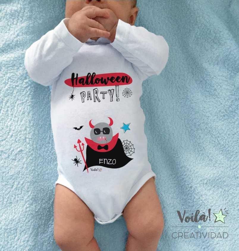 Body bebé halloween drácula